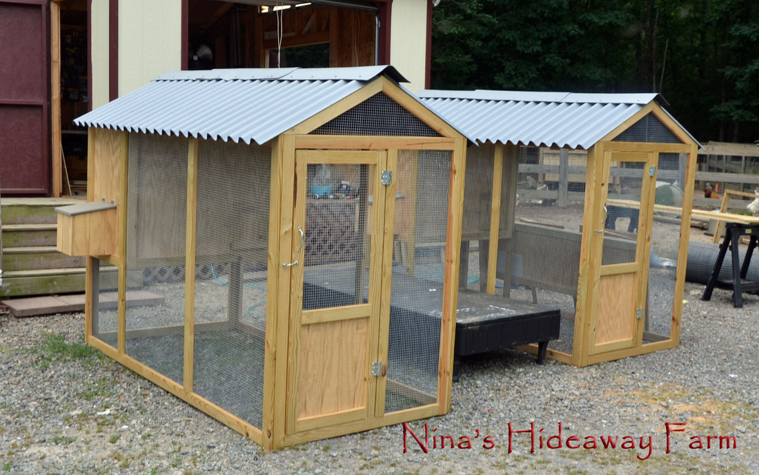 Coops small animal shelters nina 39 s hideaway farm for Building a duck house shelter